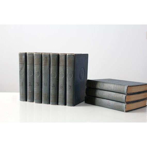 Image of 1937 Encyclopedia Set - Blue Books