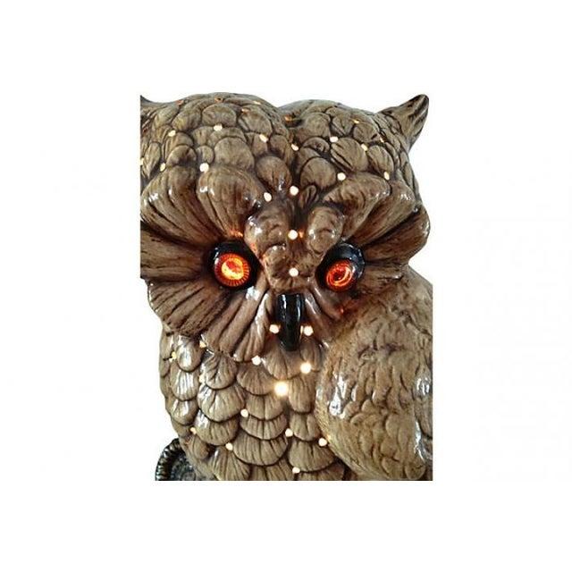 Image of Mid-Century Ceramic Owl Lamp