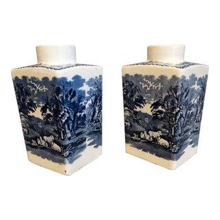 English 'British Scenery' Vases, Pair