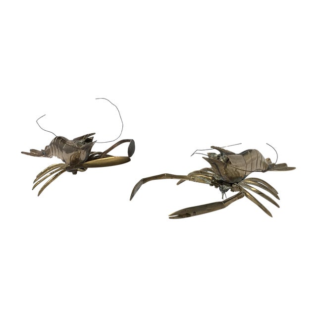 Brass Lobsters - Pair - Image 1 of 6