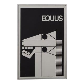 A Decorative Mirror Illustrating Equus 1980s