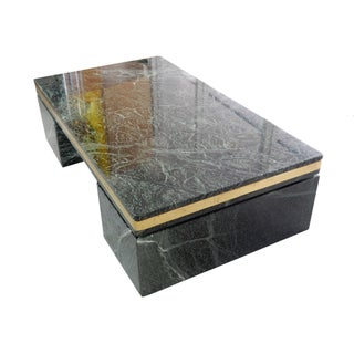 1970s Green Marble Coffee Table