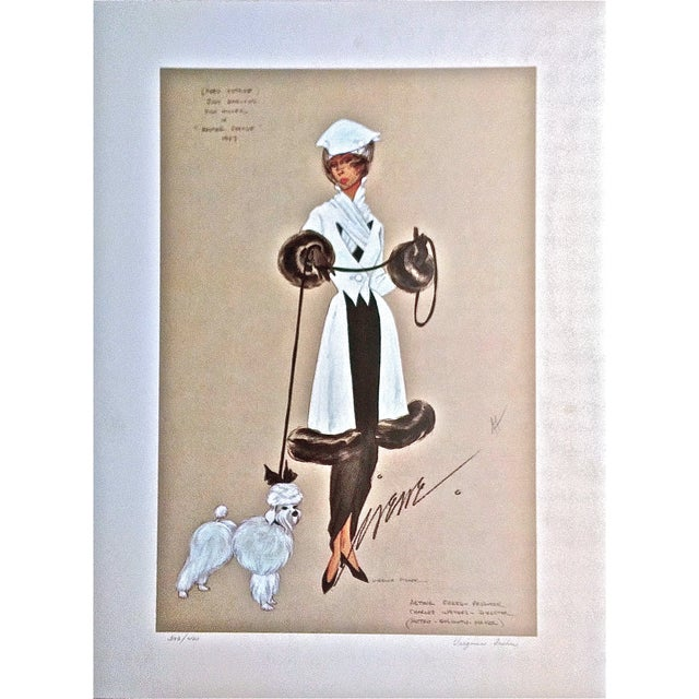 Image of Irene & Virginia Fisher White Poodle-Lithograph