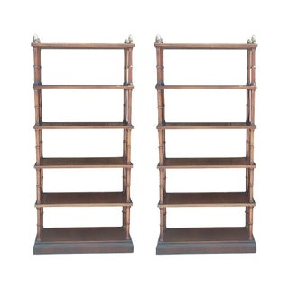 Faux Bamboo Bookshelves - A Pair