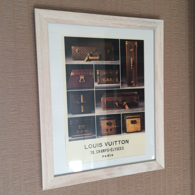 Image of Louis Vuitton Framed Luggage Print from Paris