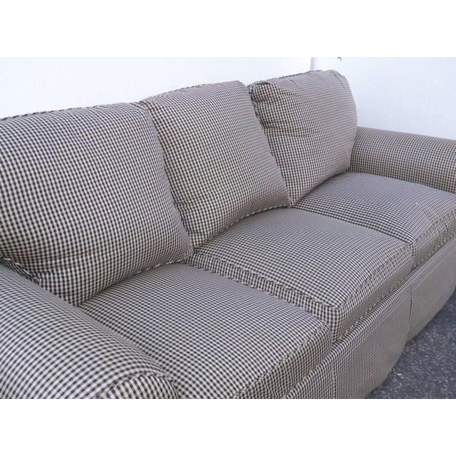 Glabman Furniture Plaid 3 Seater Sofa - Image 8 of 11