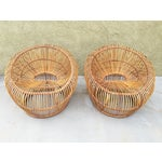 Image of Rattan Bucket Chairs by Franco Albini - A Pair