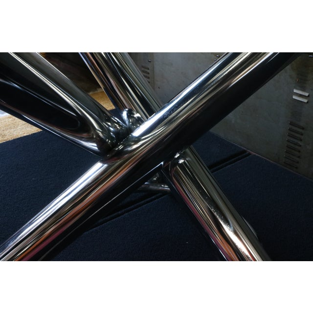 Chrome Tripod Dining Table - Image 5 of 6