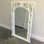 Image of Vintage Faux Bamboo & Palm Tree Leaf Mirror