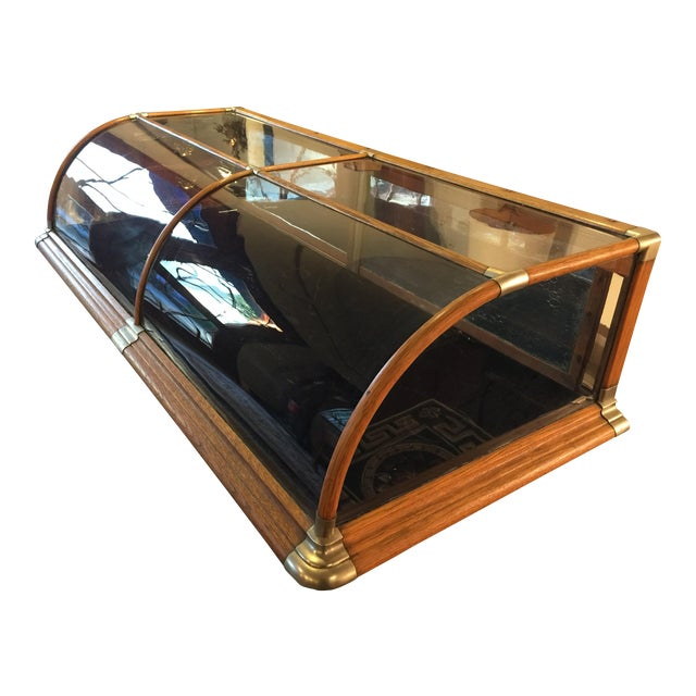 Antique Mercantile Curved Glass Display Case - Image 1 of 7
