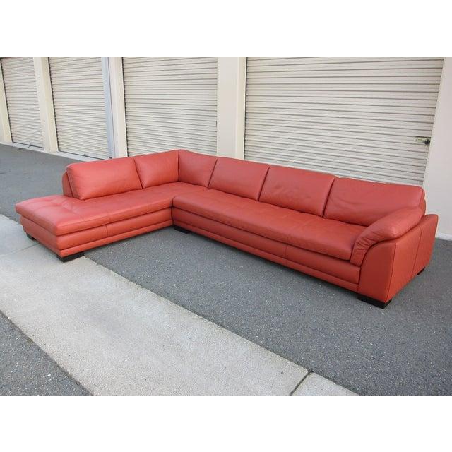 Roche Bobois Sunset Orange Sectional Sofa - Image 2 of 9