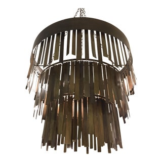 Made Goods Douglas Metal Strip Chandelier