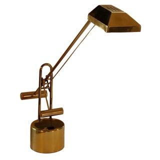Brass Articulated Counter Balance Desk Lamp