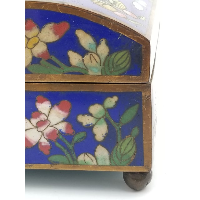 Antique Chinese Cloisonne Box - Image 8 of 11