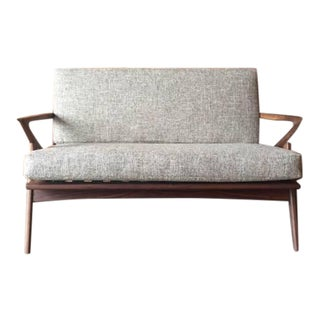 Contemporary Mid-Century Style Love Seat Sofa