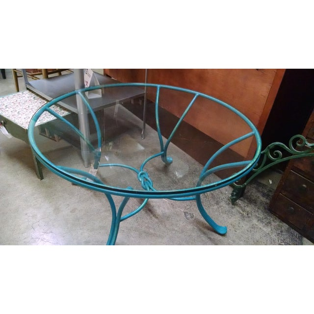 Wrought Iron Glass Top Coffee Table - Image 2 of 5