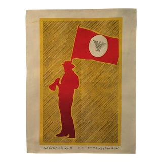 1975 Rcaf United Farm Workers Poster by H. Gonzalez - Original Silk Screen Poster