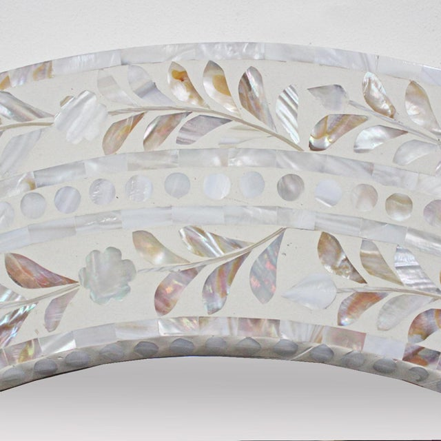 Mother Of Pearl Round Mirror Chairish