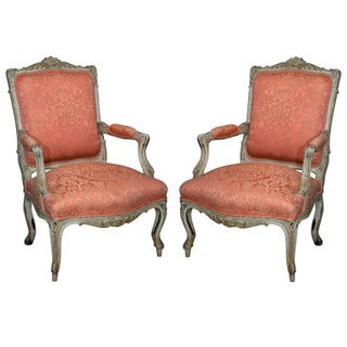 Maison Jansen French Bergere Chairs - A Pair