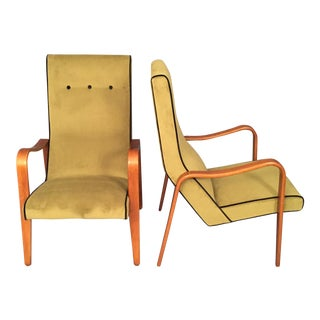 Mid-Century Modern Thonet Lounge Arms Chairs -- A Pair