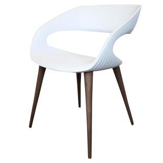 Modern White Scoop Armchair