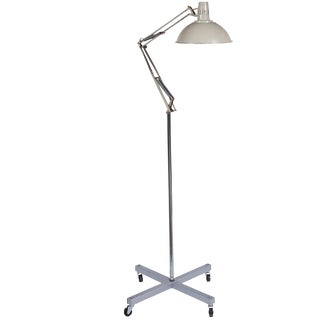 French Industrial White Medical Lamp