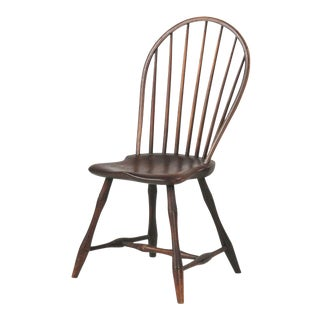 1800 Antique American Bowback Windsor Side Chair