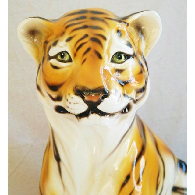 Large Mid-Century Porcelain Italian Tiger - Image 3 of 11
