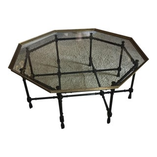 Baker Faux Bamboo Base Cocktail Table