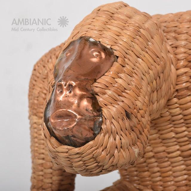 Mario Lopez Torres Wicker Monkey Sculpture - Image 10 of 10