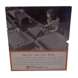 Vintage Westinghouse Advertising Poster, 1942