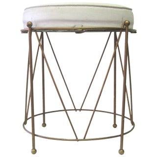 Round Jansen-Style Geometric Brass Stool