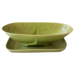 Abingdon Mid-Century Lime Green Planters- A Pair