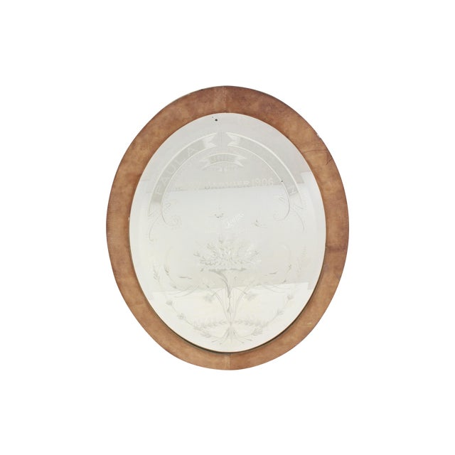 Image of Paula And Adelson French Oval Mirror
