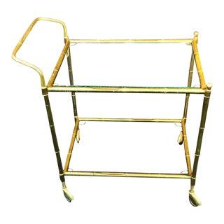 Bagues Style Brass Bamboo Bar Cart