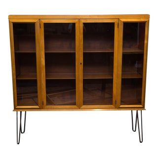 John Widdicomb Display Cabinet on Hairpin Legs