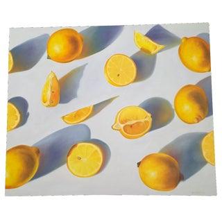 Lemon Art Canvas Print by Jenny Stewart