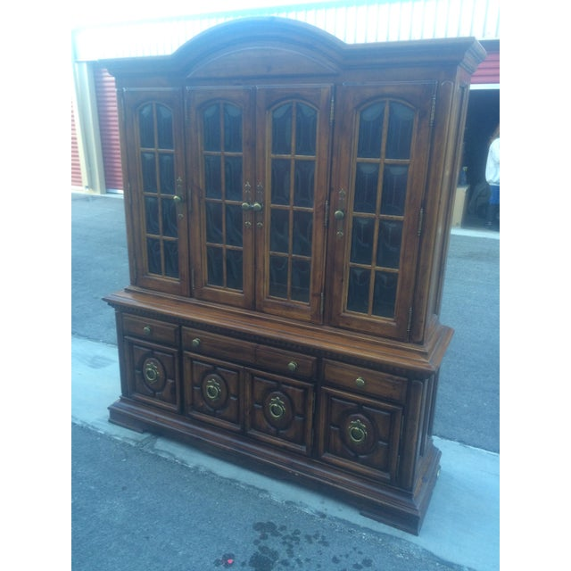 Burlington House Solid Wood Buffet with Hutch - Image 4 of 8