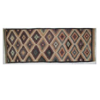 """Leon Banilivi Navajo Style Kilim - 12'9"""" X 4'9"""""""