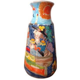 DeSimone Mermaid & Fisherman Vase