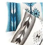 Image of Blue Oaxaca Wool Pillow