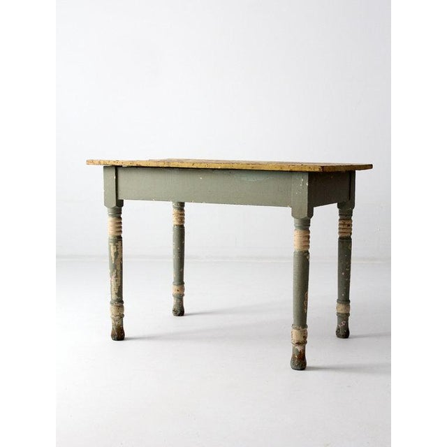 Antique American Painted Wood Table - Image 5 of 6