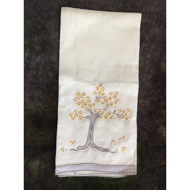 Vintage Embroidered Tree Tea Towel - Image 4 of 10