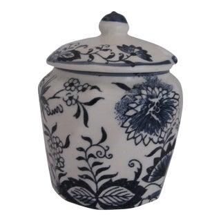 Blue & White Vintage Mustard Pot