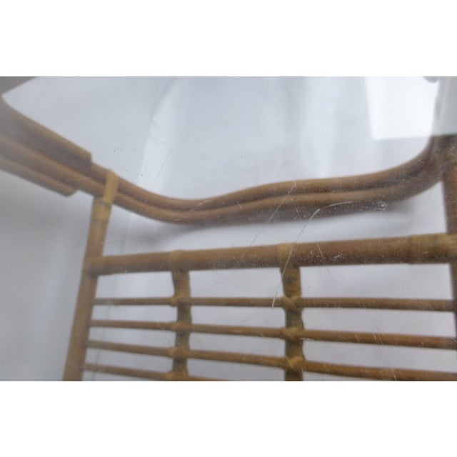 Vintage Mid-Century Bamboo Coffee Table - Image 8 of 9