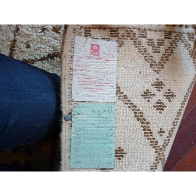 Vintage Handmade Moroccan Rug - Image 7 of 9