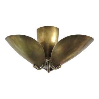 Patinaed Brass Georgia Flushmount