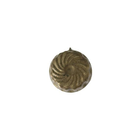Vintage Small Brass Round Kitchen Mold - Image 2 of 3