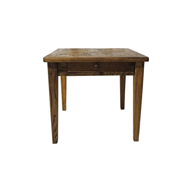 Reclaimed Wood Side Table - Image 1 of 5