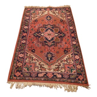 Traditional Red & Blue Area Rug - 3′ × 5′